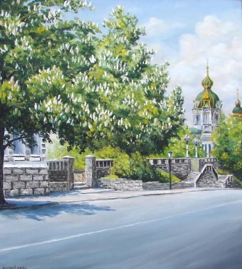 Андреевский спуск, Киев, пейзаж, живопись