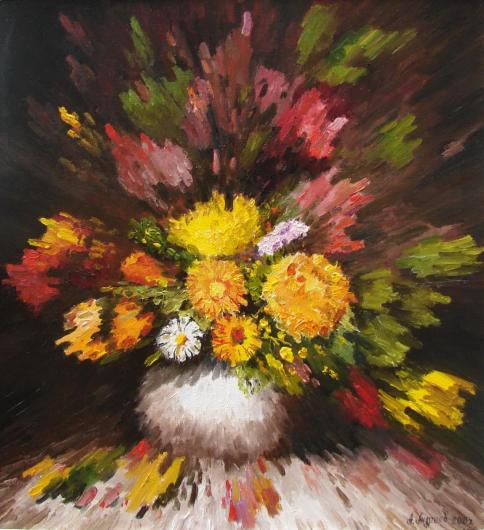 still life, painting, aroma, bouquet, flowers