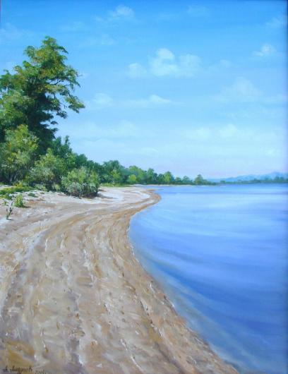 summer, Dnepr, noon, landscape