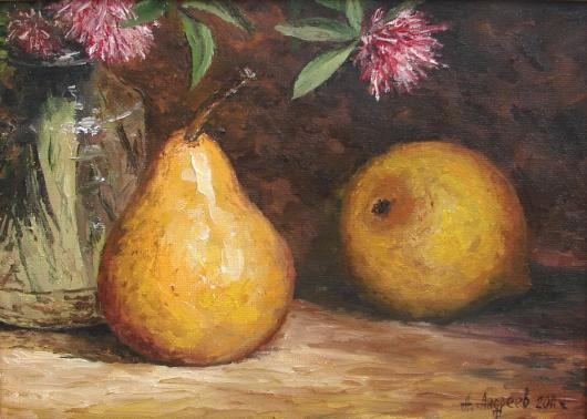Impressionism, Pear ,still life, painting, picture