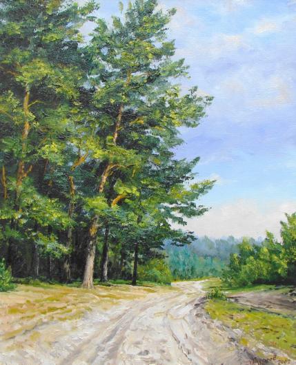 лето, лес