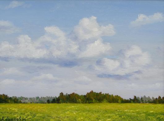 лето, поле,картина, искусство, живопись