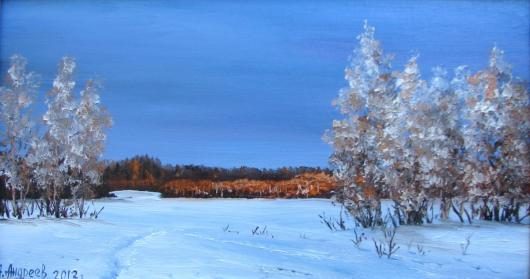winter, landscape,