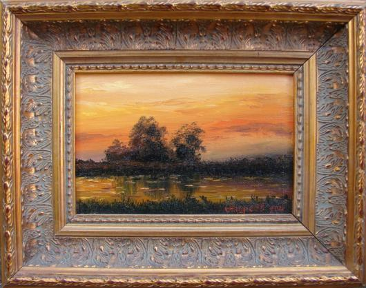 At sunset, landscape