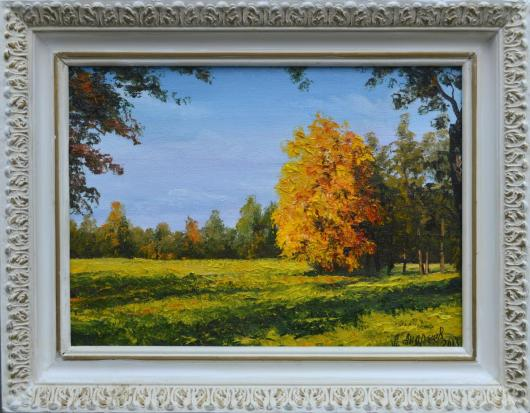 autumn, landscape, painting