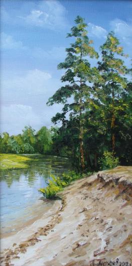 лето,  река