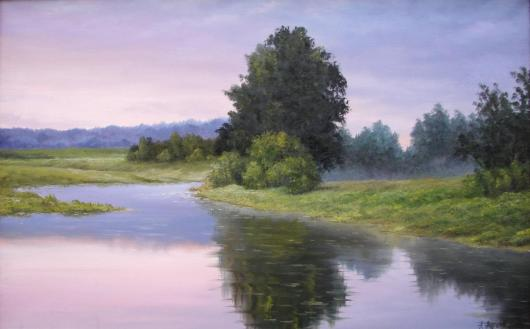 Summer, morning, landscape