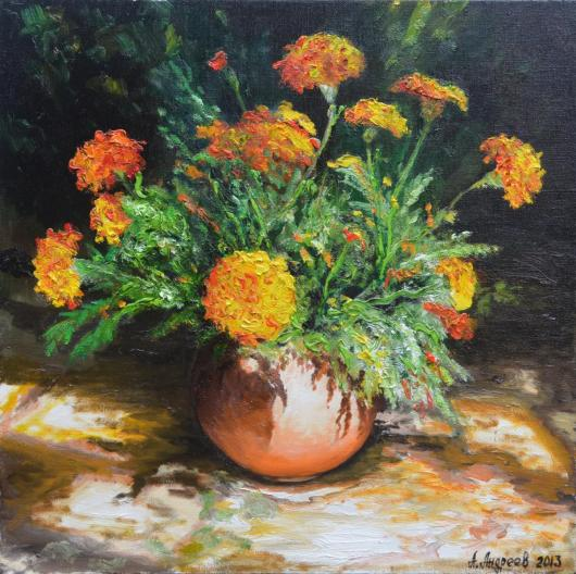still life, painting, flower, flowers