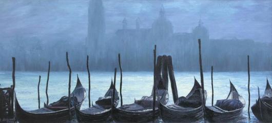 пейзаж, Венеция,  живопись