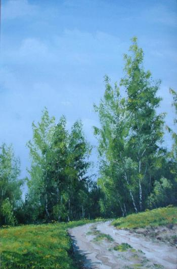 summer, landscape, Spring, painting