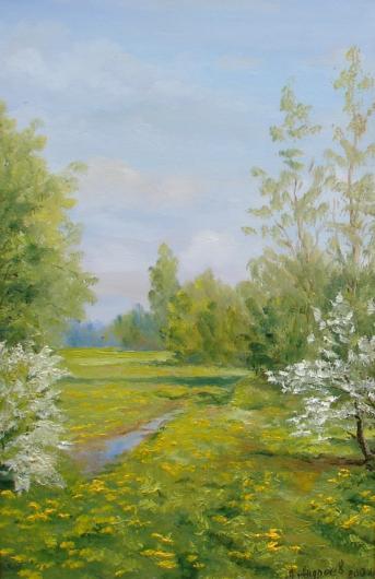 Весна, лето, пейзаж, живопись