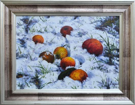 Зима,  натюрморт, живопись