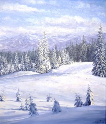 Winter, in Carpathians