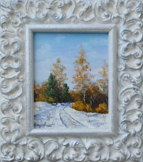 winter, landscape, sun