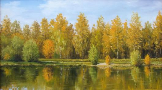 Golden autumn landscape